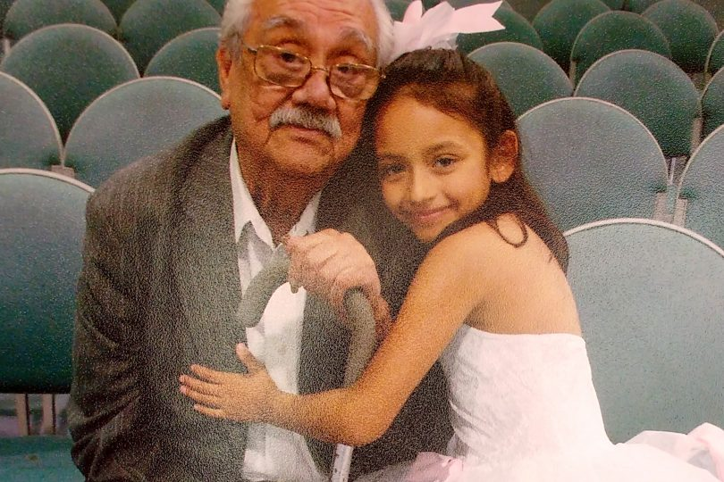 Robert with granddaughter Sandye