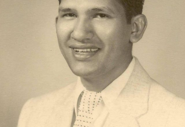 black and white photo of Abraham Perez. Date unknown.