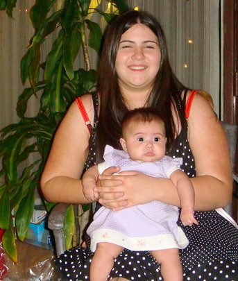 Chanielle Islas with her mom, 24 March 2008.