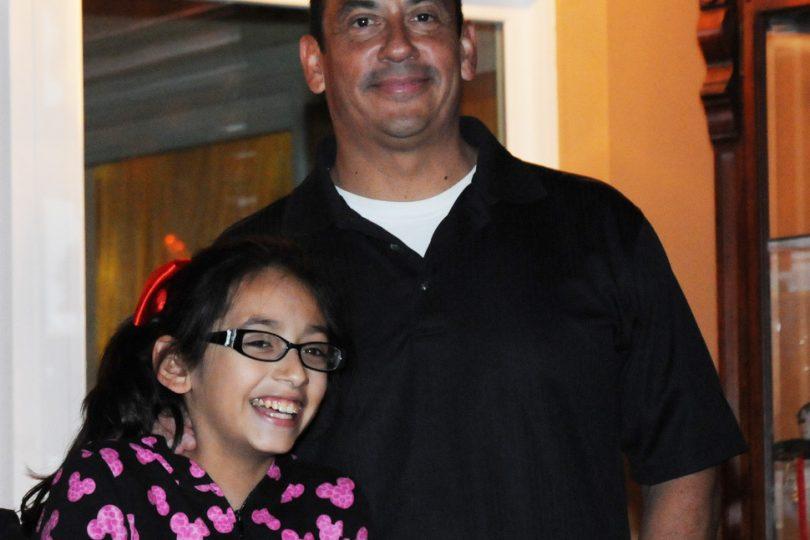 Rocky Sapien with his niece Sandye