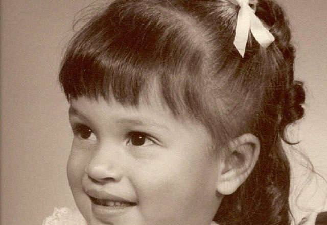 childhood portrait of Rosemary Hernandez