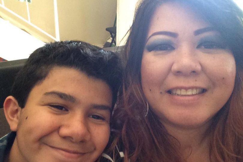 Tina Cobian with her son Joseph.