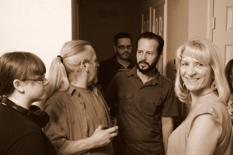 Terry Perez with relatives