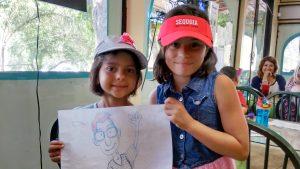 Ellie & Kirra in 3 Rivers, CA, June 2015.