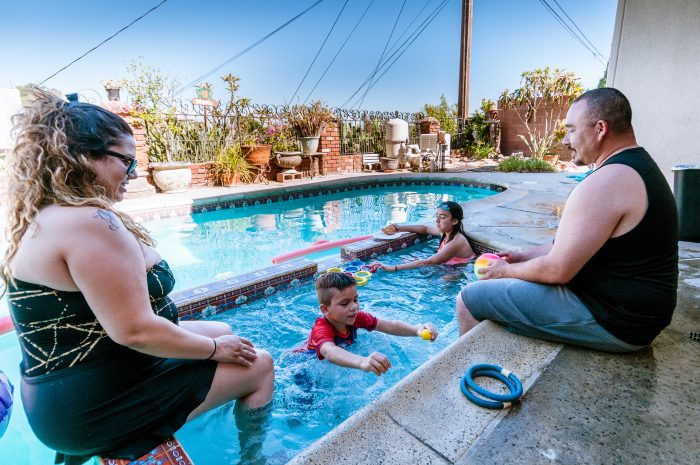 Backyard pool party at Sheila & Joe's house in Monterey Park in July 2019.